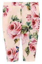 Dolce & Gabbana | Хлопковые брюки с принтом Dolce & Gabbana | Clouty