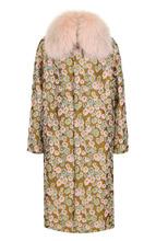 Bally | Пальто с цветочным принтом и отделкой из меха песца Bally | Clouty