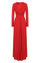 Giorgio Armani | Шелковое платье-макси с драпировкой Giorgio Armani | Clouty