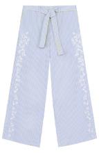 Armani Junior | Расклешенные брюки с вышивкой и поясом Armani Junior | Clouty