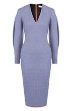 Victoria Beckham | Приталенное платье-миди с V-образным вырезом Victoria Beckham | Clouty