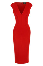 Tom Ford   Платье-футляр с V-образным вырезом Tom Ford   Clouty