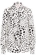 Marc Jacobs | Шелковая блуза в горох с воротником аскот Marc Jacobs | Clouty