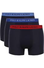 POLO RALPH LAUREN | Комплект из трех хлопковых боксеров с широкой резинкой Polo Ralph Lauren | Clouty