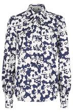 Marc Jacobs | Шелковая блуза с бантом и принтом Marc Jacobs | Clouty