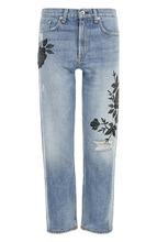 RAG & BONE | Укороченные джинсы с цветочной вышивкой и потертостями Rag&Bone | Clouty