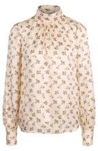 Marc Jacobs | Шелковая блуза с принтом и воротником-стойкой Marc Jacobs | Clouty