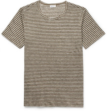 Schiesser | Helmut Striped Linen T-shirt | Clouty