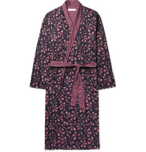 Desmond & Dempsey | Printed Cotton-sateen Robe | Clouty