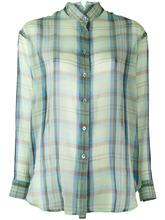 Etro   прозрачная рубашка в клетку Etro   Clouty