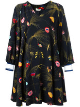 FENDI   платье с цветочным узором и открытыми плечами Fendi   Clouty