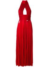 GIVENCHY | плиссированное платье с вырезом-петлей халтер Givenchy | Clouty