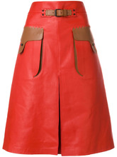 Bottega Veneta | contrast pocket A-line skirt Bottega Veneta | Clouty
