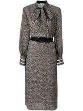 FENDI   платье с шевронным узором Fendi   Clouty