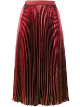 CHRISTOPHER KANE | плиссированная юбка с завышенной талией с металлическим отблеском Christopher Kane | Clouty