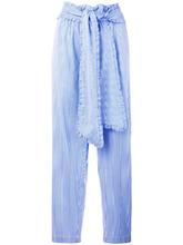 MSGM | брюки в полоску с завязкой на талии MSGM | Clouty