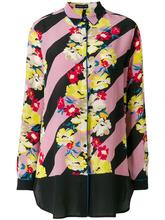 Etro   полосатая рубашка с цветочным принтом Etro   Clouty