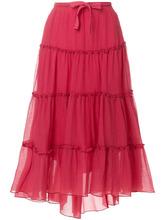 See by Chloé   расклешенная юбка миди с оборками See By Chloe   Clouty