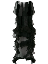 GIVENCHY | платье со вставками и оборкой  Givenchy | Clouty