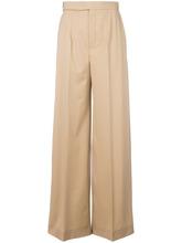 Chloé   расклешенные классические брюки Chloe   Clouty