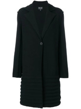 Giorgio Armani | однобортное фактурное пальто Giorgio Armani | Clouty