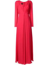 Giorgio Armani | платье с длинными рукавами и сборкой  Giorgio Armani | Clouty