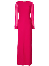 GIVENCHY | вечернее платье с прозрачными рукавами Givenchy | Clouty