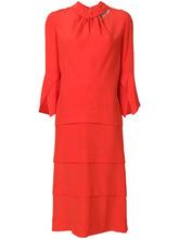 Victoria Beckham | платье миди с оборкой на вороте  Victoria Beckham | Clouty