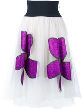 CHRISTOPHER KANE | юбка с блестящими цветами Christopher Kane | Clouty