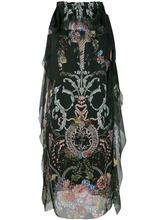 FENDI   цветочное платье с завязками на плечах Fendi   Clouty
