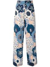 Chloé | широкие брюки с цветочным принтом Chloe | Clouty