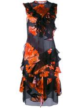 GIVENCHY | платье с рюшами и цветочным принтом Givenchy | Clouty