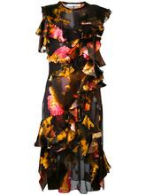 GIVENCHY | платье с разноцветными рюшами Givenchy | Clouty
