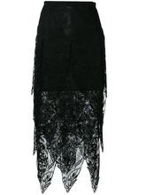 CHRISTOPHER KANE | сетчатая юбка-миди с неровным подолом Christopher Kane | Clouty