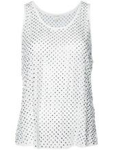Marc Jacobs | декорированная блузка с кристаллами без рукавов Marc Jacobs | Clouty