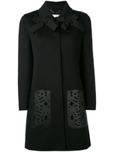 FENDI   пальто с декоративными вырезами лазером Fendi   Clouty