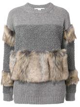 Stella McCartney | трикотажный свитер с меховой отделкой  Stella McCartney | Clouty