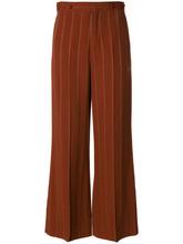 Chloé   расклешенные брюки в тонкую полоску Chloe   Clouty
