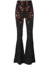 GIVENCHY | расклешенные брюки с цветочным принтом Givenchy | Clouty