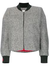 FENDI   твидовая куртка-бомбер с бисерной отделкой  Fendi   Clouty