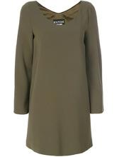 Boutique Moschino | платье с V-образной горловиной и пуговицами на рукавах Boutique Moschino | Clouty