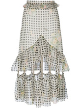 CHRISTOPHER KANE | юбка в клетку гингем с отделкой цепочками Christopher Kane | Clouty