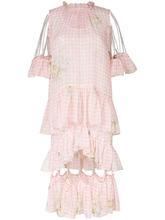 CHRISTOPHER KANE | платье в клетку гингем с отделкой цепочками Christopher Kane | Clouty