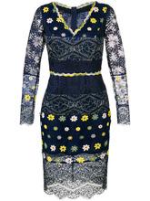 Talbot & Runhof | кружевное платье с V-образным вырезом  Talbot Runhof | Clouty