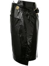 Petar Petrov   лакированная юбка с запахом Petar Petrov   Clouty