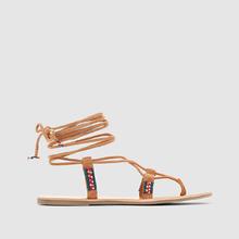 Coolway | Босоножки кожаные с перемычкой между пальцами на плоском каблуке, MINA | Clouty