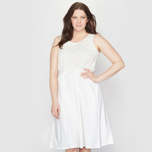 Taillissime | Платье из двух материалов | Clouty