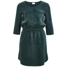 Vila | Платье облегающее короткое однотонное, с длинными рукавами | Clouty