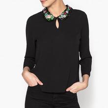 LA BRAND BOUTIQUE COLLECTION | Блузка с рисунком и круглым вырезом SOPHIE | Clouty