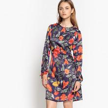 Mademoiselle R | Платье расклешенное короткого покроя с рисунком | Clouty